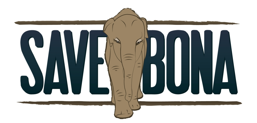 Illustration sticker design for Save Bona - a crowd-funded project to assist rescuing and saving elephants in Sumatra