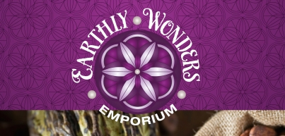 Branding for Earthly Wonders Emporium a raw organic cafe and supermarket