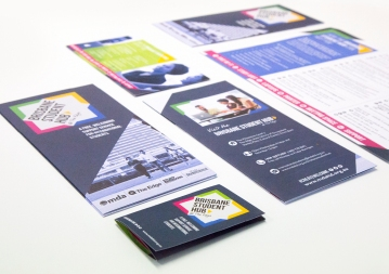 Brisbane Student Hub brochure and pocket card