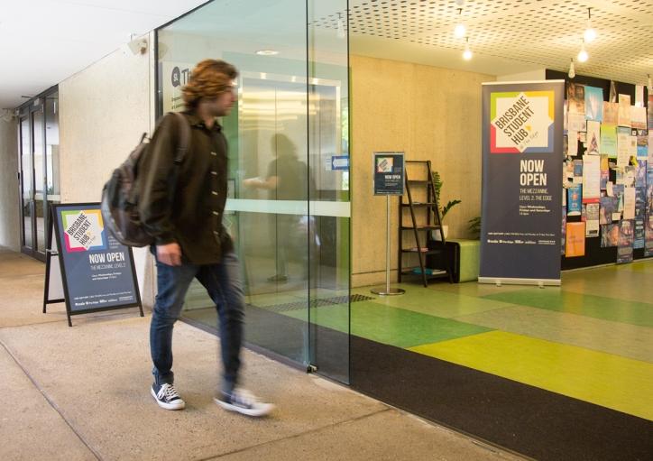 Signage at Brisbane Student Hub